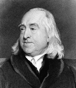 M0016939 Portrait of Jeremy Bentham Credit: Wellcome Library, London. Wellcome Images images@wellcome.ac.uk http://wellcomeimages.org Portrait of Jeremy Bentham Engraving By: C. Foxafter: Henry W. PickersgillPublished: - Copyrighted work available under Creative Commons Attribution only licence CC BY 4.0 http://creativecommons.org/licenses/by/4.0/