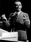 Undated and unlocated picture of Joseph Goebbels, Third Reich Minister of Propaganda, delivering a speech. At the end of World War II, as Berlin was besieged by the Russians, Goebbels stayed with Hitler in his bunker. On May 1st, 1945, he and his wife gave poison to his six children and then shot his wife and then himself.