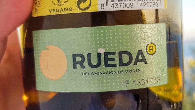 Rueda Weißwein Etikett