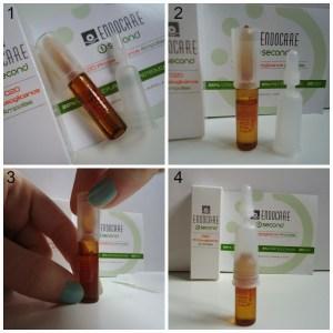 Правильное вскрытие и хранение ампулы Endocare C20 Proteoglicanos.