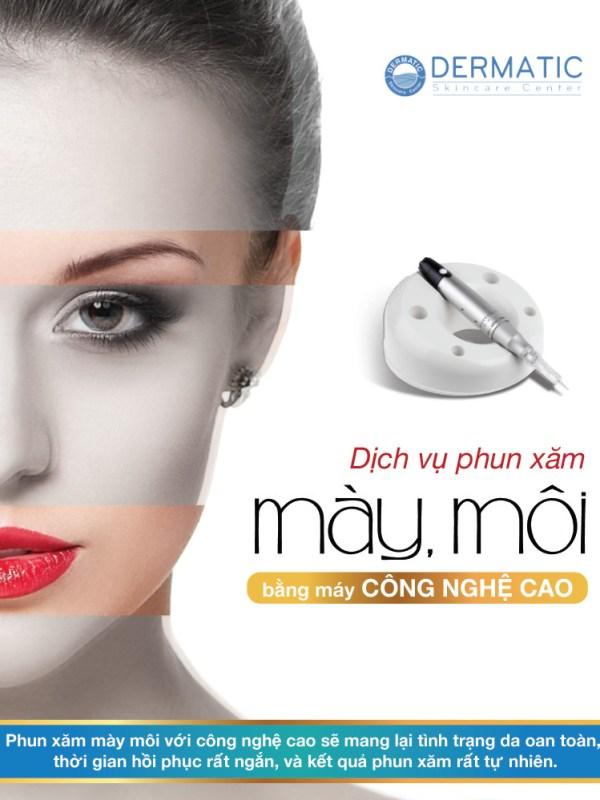 Phun Xăm Mày - Môi - Mí bằng máy Công Nghệ Cao