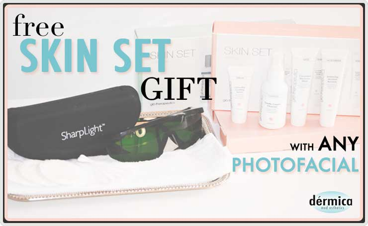 dermica photofacials gift with purchase
