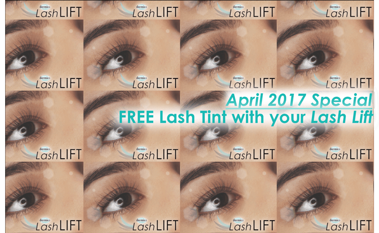 April 2017 Special Free Lash Tint With Your Lash Lift Drmica