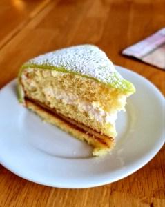 die leckere grüne Torte