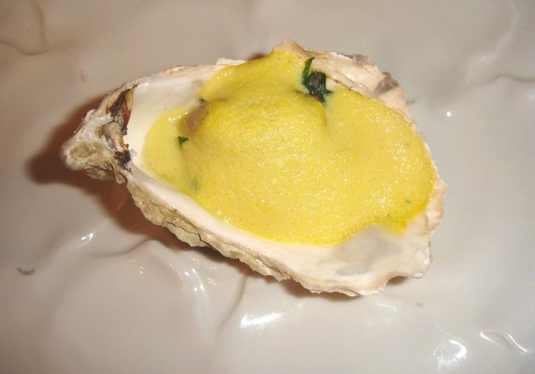 Austern überbacken mit Sauce Hollandaise