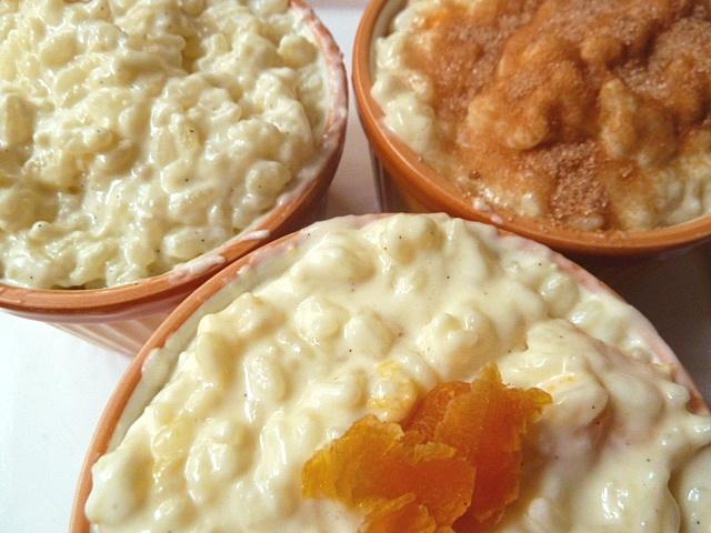 Milchreis mit Vanille, Trockenaprikosen oder Zimt und Zucker