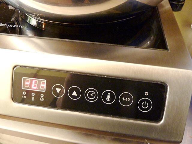 Induktionsplatte, Kontaktgrill und Grillgemüse