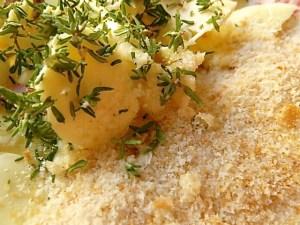 Butter, Thymian und Semmelbrösel