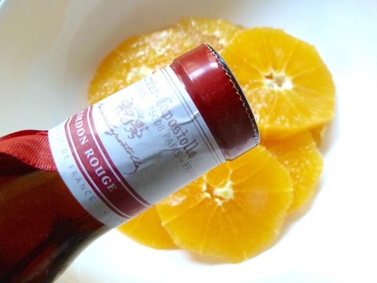 Orangenscheiben in Grand Marnier