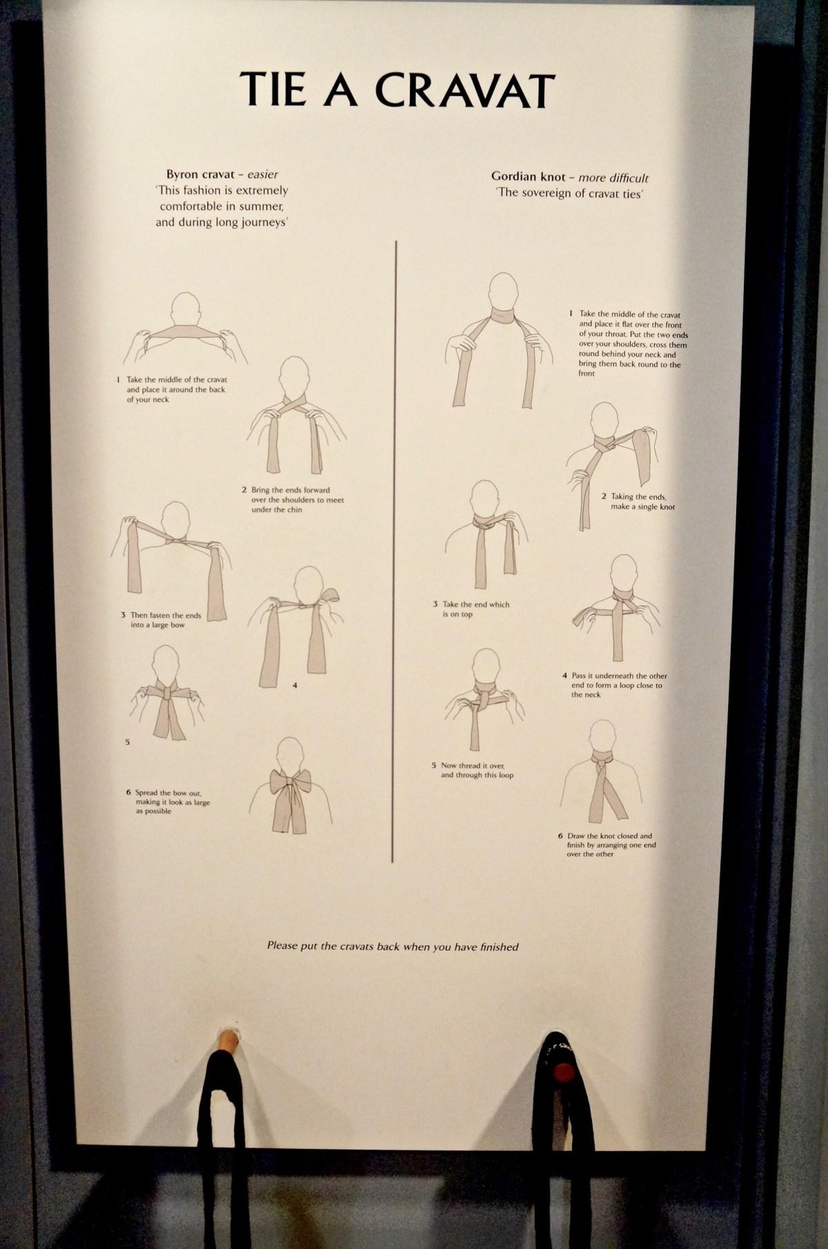 oder Krawatten binden