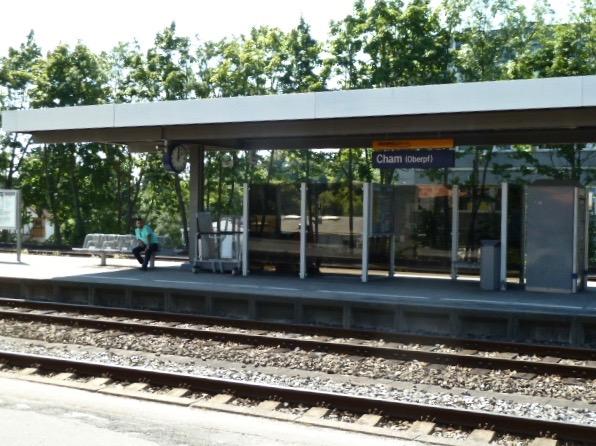 Ankunft in Cham, erste Station Bräustüberl