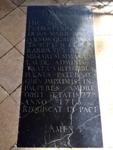 Das Grab von Dom Perignon