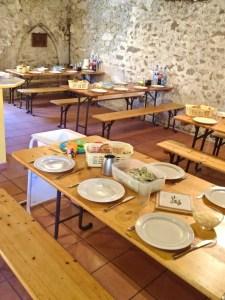 gedeckter Tisch für die Arbeiter