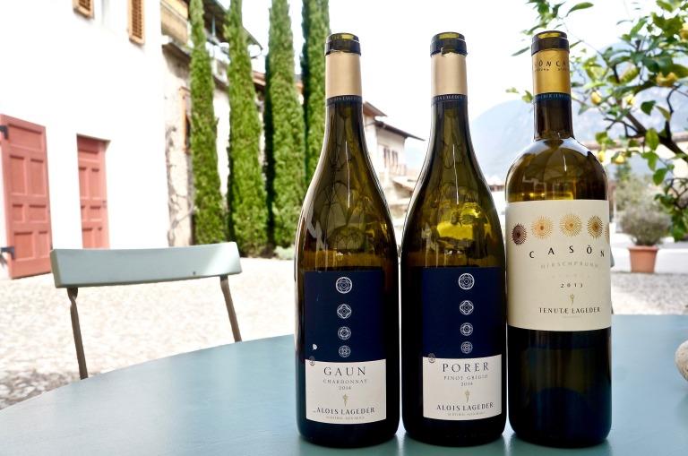 Alois Lageder Gaun Chardonnay, Porer Pinot Grigio & Cason Weiß