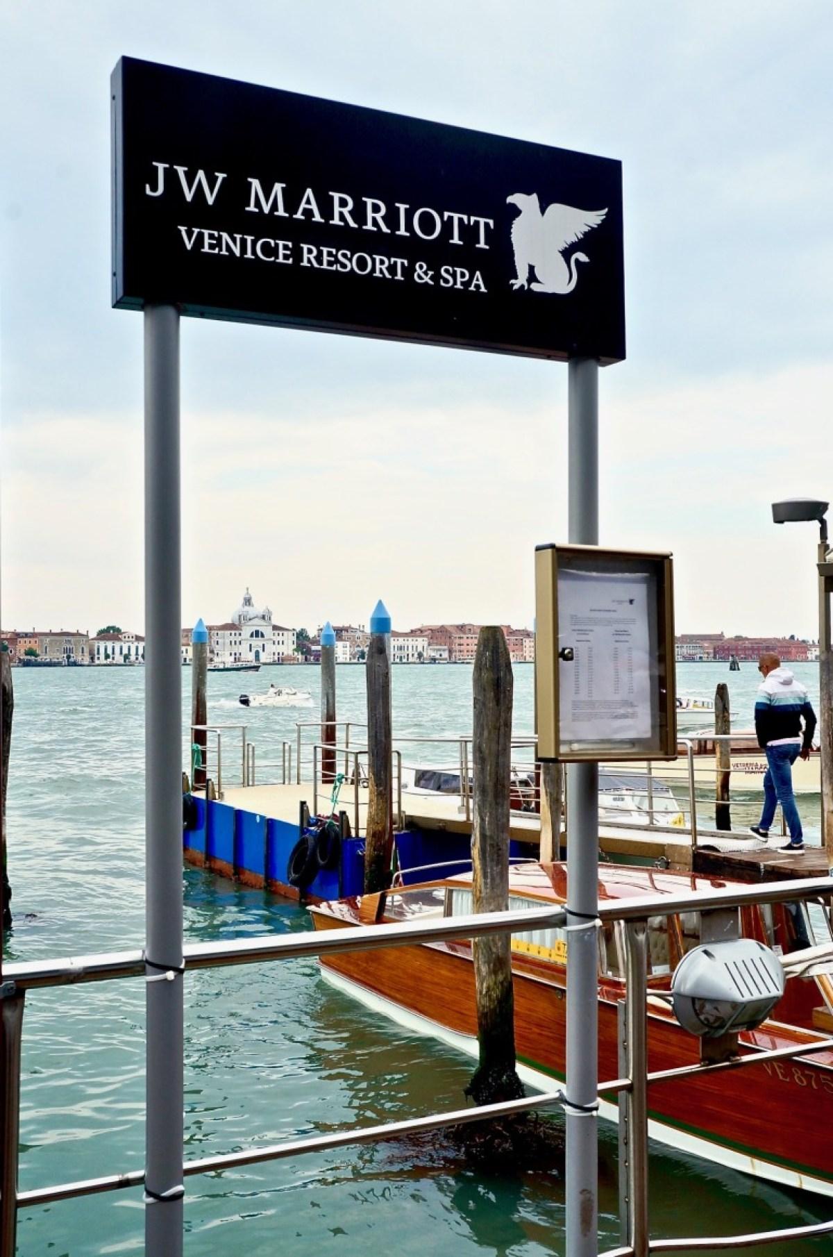 gefunden: der Steg für's Boot zum Marriott