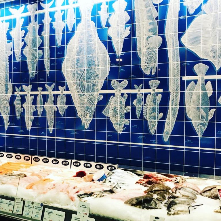 Die neue Fischtheke im Frischeparadies München
