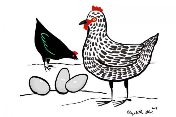 Ostereier in grüner Soße ©Elizabeth Blue Illustrations