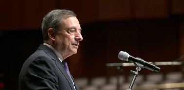 Eu President Mario Draghi