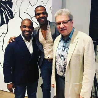 """Happy Saturday everyone! ⠀⠀⠀⠀⠀⠀⠀⠀⠀ Here's a photo of Larry Brownlee (famous opera tenor) and Anthony Davis (opera composer of 'The Central Park Five') from the Long Beach Opera Community Conversation on """"Equity and Diversity in the Arts."""" ⠀⠀⠀⠀⠀⠀⠀⠀⠀ In the 'The Central Park Five"""" I will play the part of Antron. This show premieres in June! . . . . . #audioloveofficial#musicflow#musicians#musicislife#livemusic#concertphotography#crazygoodvoices#giftedvoices#hotvocals#omgvoices#platinumvoices#risingtalents#singercentral#songcoversmusic#singersspotflight#submitvocal#thegoodvoice#talent_locker#upvoices#topvocalist#bassbaritone#barihunks#gayopera#operasingersofinstagram#longbeach#california#longbeachopera#phd#musictomyears"""