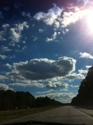 Clouds gave way to more sun on our way through the Carolinas en route to southern Georgia.