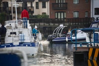 Boats going through lock 2