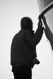 Boat maintenance silhouette