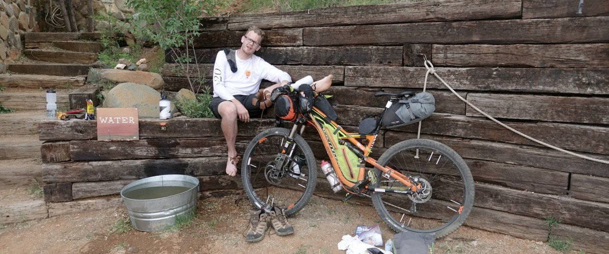Derrick Perrin resting at High Jinks Ranch