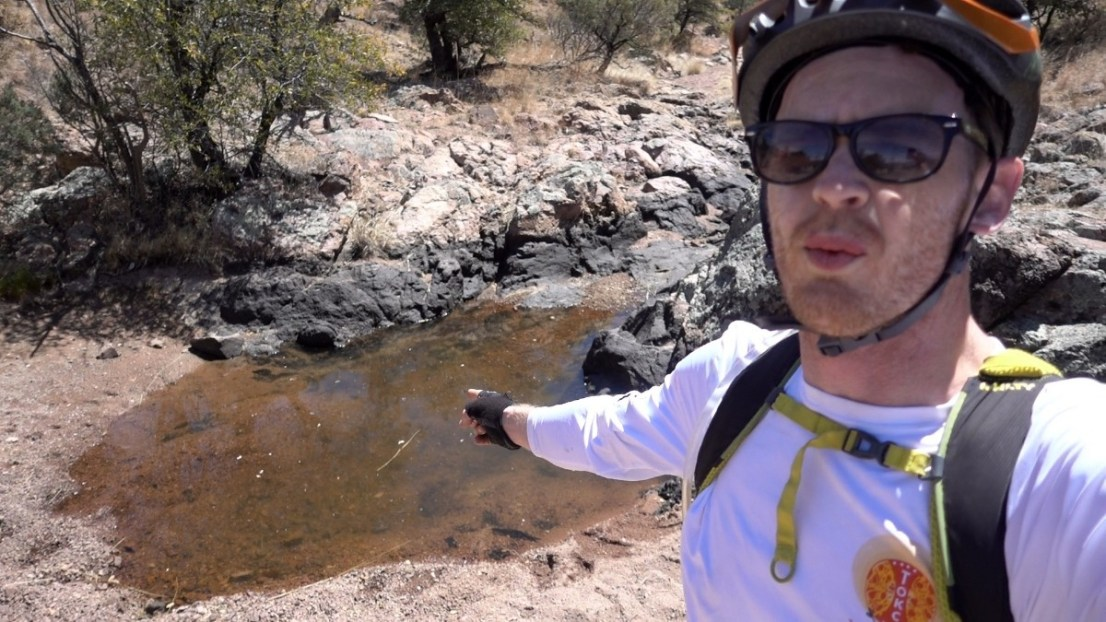 Water spot on the Arizona Trail