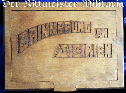 SIBERIA - CIGARETTE BOX  - COMMEMORATING POST WW I SERVICE IN SIBERIA - Imperial German Military Antiques Sale