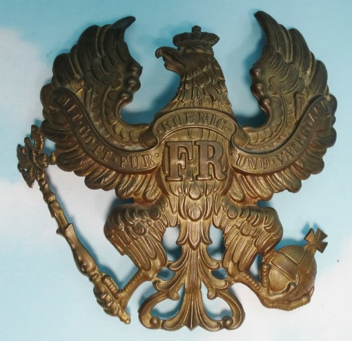 WAPPEN - PRUSSIA - FOR PICKELHAUBE - ENLISTED MEN/NCO -  INFANTERIE - M-1871 - Imperial German Military Antiques Sale
