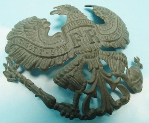 WAPPEN - PRUSSIA - FOR PICKELHAUBE - ENLISTED MAN/NCO -  INFANTERIE/ARTILLERIE REGIMENT - M-1915 - Imperial German Military Antiques Sale