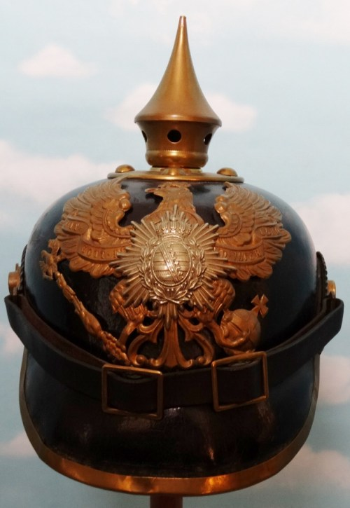 SAXE-COBURG-GOTHA - PICKELHAUBE - ENLISTED MAN - 6. THÜRINGISCHES INFANTERIE-REGIMENT Nr 95 - Imperial German Military Antiques Sale