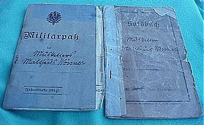 SOLDBUCH AND MILITÄRPAß TO AN AVIATION SOLDIER - Imperial German Military Antiques Sale