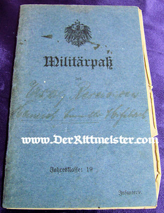 MILITÄRPAß - SAXON S'OLDIER/AVIATOR - Imperial German Military Antiques Sale