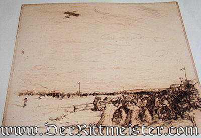 ORIGINAL PRE WW I AVIATION LITHOGRAPH - Imperial German Military Antiques Sale