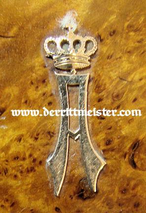 PRUSSIA - CIGARETTE CASE - PRINZ ADALBERT von PREUßEN - Imperial German Military Antiques Sale