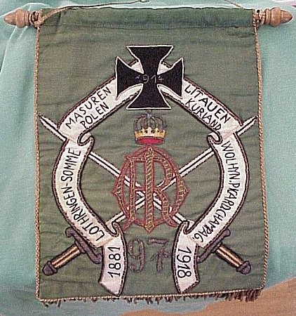 PRUSSIA - BANNER - VETERANS - Imperial German Military Antiques Sale