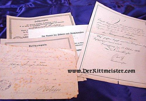 GERMANY - DOCUMENT GROUP - FELDWEBEL LÜDERS - Imperial German Military Antiques Sale
