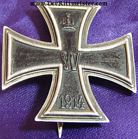 """IRON CROSS - 1914 - 1st CLASS NON VAULTED WITH """"CD"""" AND .800 SILVER HALLMARKS - Imperial German Military Antiques Sale"""