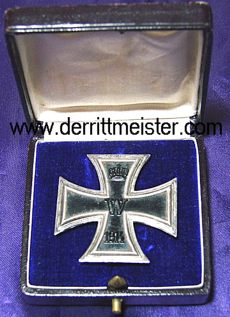 IRON CROSS - 1914 - 1st CLASS - ORIGINAL PRESENTATION CASE - Imperial German Military Antiques Sale