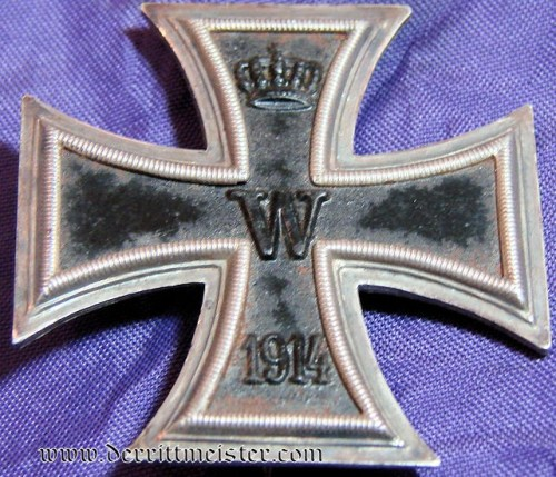 IRON CROSS - 1914 - 1st CLASS - NON VAULTED - Imperial German Military Antiques Sale