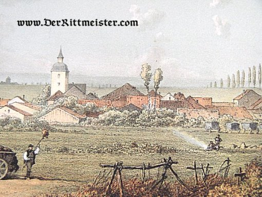 PRUSSIA - COLOR PRINT FROM ORIGINAL PAINTING - 1870/71 FRANCO-PRUSSIAN WAR - Imperial German Military Antiques Sale