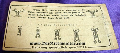 GERMANY - HOOK AND EYE CARD - ZEPPELIN - Imperial German Military Antiques Sale