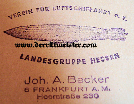 """GERMANY - MAGAZINE - """"NEW ZEPPELIN"""" - 1966 - Imperial German Military Antiques Sale"""