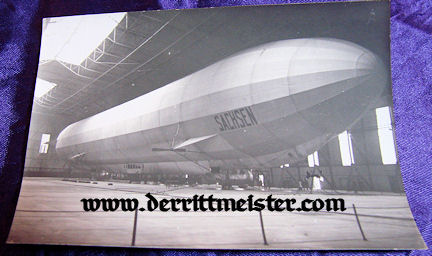 GERMANY - PHOTOGRAPH - ZEPPELIN SACHSEN - HANGER - Imperial German Military Antiques Sale