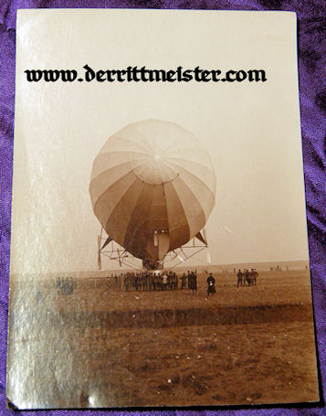 GERMANY - PHOTOGRAPH - PRE WW I ZEPPELIN SACHSEN - Imperial German Military Antiques Sale