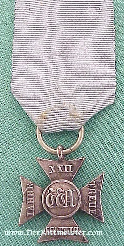 DUCHY OF NASSAU - 22 YEARS LONG SERVICE DECORATION - Imperial German Military Antiques Sale