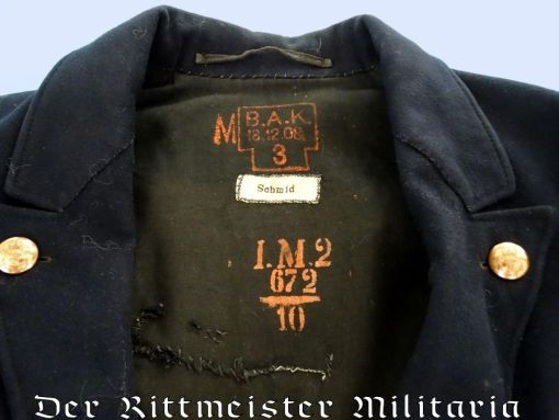 NAVY ENLISTED MAN'S IDENTIFIED DRESS TUNIC - Imperial German Military Antiques Sale