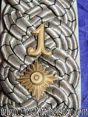 PRUSSIA - SHOULDER BOARDS - OBERSTLEUTNANT - FUßARTILLERIE-REGIMENT Nr 1 - Imperial German Military Antiques Sale