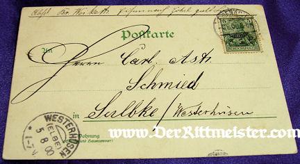COLOR POSTCARD - KAISER WILHELM I - CELEBRATION - 1871 - VICTORY - FRANCO-PRUSSIAN WAR - Imperial German Military Antiques Sale